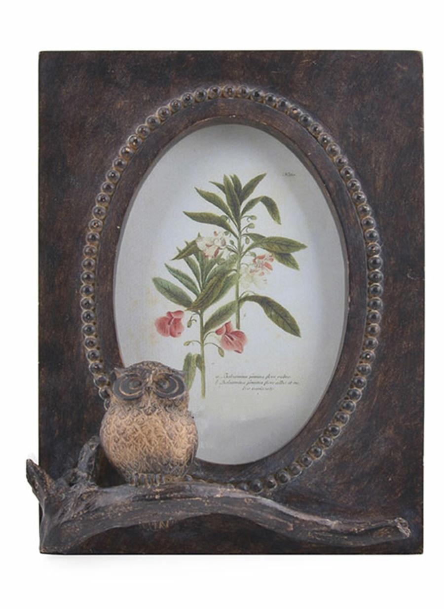 warm design baykuş motifli çerçeve